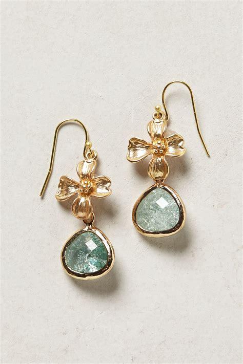 Anthropologie Dittany Drop Earrings in Blue