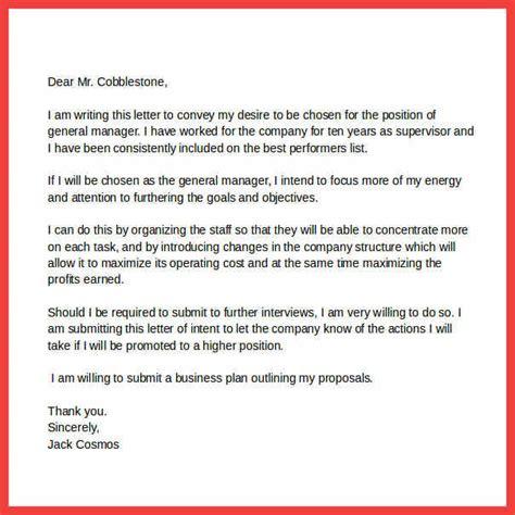 letter  intent promotion memo