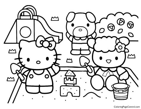 Hello Kitty Coloring Page 13 Coloring Page Central
