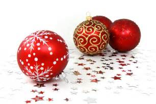 ornaments free stock photo red christmas ornaments with silver stars on a white floor 9085