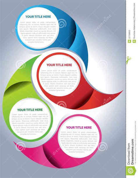 Vector Brochure Page Design Concept Stock Vector