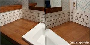 The easiest way to tile a backsplash domestic imperfection for How to do backsplash corners
