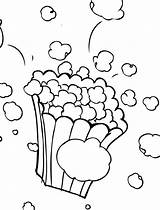 Popcorn Coloring Pages Sheet Kernel Printable Template Cone Print Shape Getcolorings Templates Food Fun Comments Coloringhome sketch template