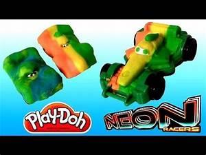 Play Doh Cars Neon Racers Rip Clutchgoneski & Neon Racers