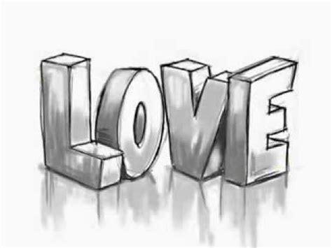 How To Draw 3d Graffiti Love Stencils