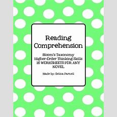 Reading Comprehension  Higherorder Thinking Skills  Worksheets For Any Novel Comprehension