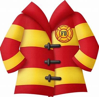 Jacket Fireman Clipart Fire Pompier Firemen Clip