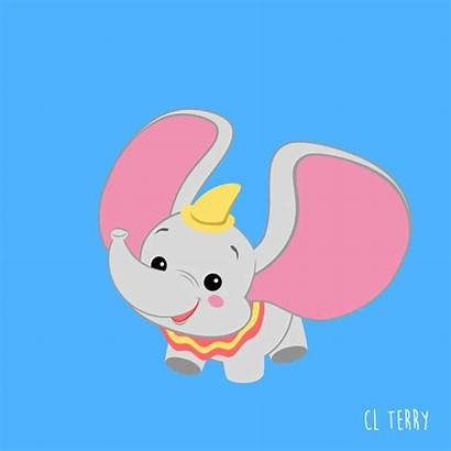 Elephant Drawing Cartoon Animals Animated Gifs Background