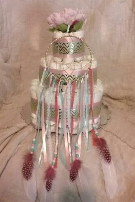 dream catcher diaper cake cv creations baby shower
