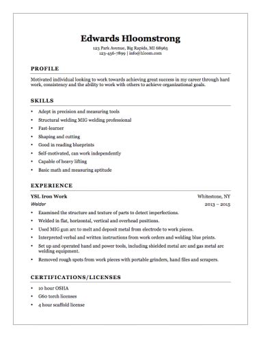 Resume Helper Free by Welder Helper Resume Exle Business Student Resume