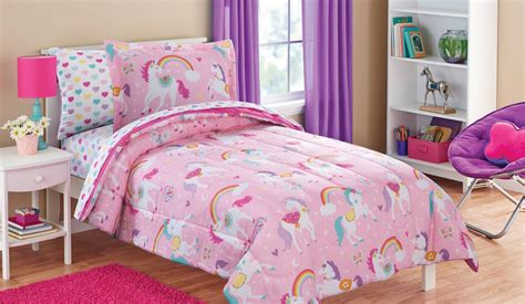Bright And Colorful Unicorn Bedding Sets For Girls