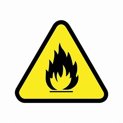 Flammable Caution Safety Industrial Clipart Symbol Graphics