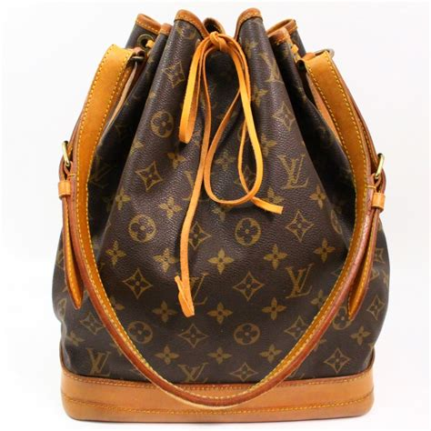 authentic louis vuitton noe monogram shoulder tote bag
