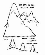 Mountain Coloring Mountains Pages Letter Worksheet Clipart Colour Sheets Abc Geography Popular Clip Coloringhome sketch template