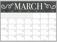 March 2018 Calendar Editable Printable Free Printable