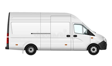 Transit Template Eps by Cargo Van Vector Illustration On White City Commercial