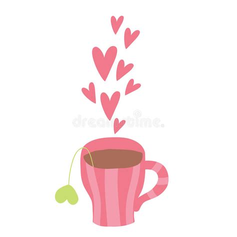 Coffee heartbeat svg heart ekg svg coffee mug svg coffee. Cute Cartoon Cup Of Coffee With Hearts Stock Vector - Illustration of cappuccino, vector: 41725810