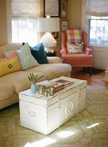 10 clever coffee table alternatives painted trunk for Painted trunk coffee table