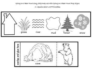 bear hunt story strip  lwp printables tpt