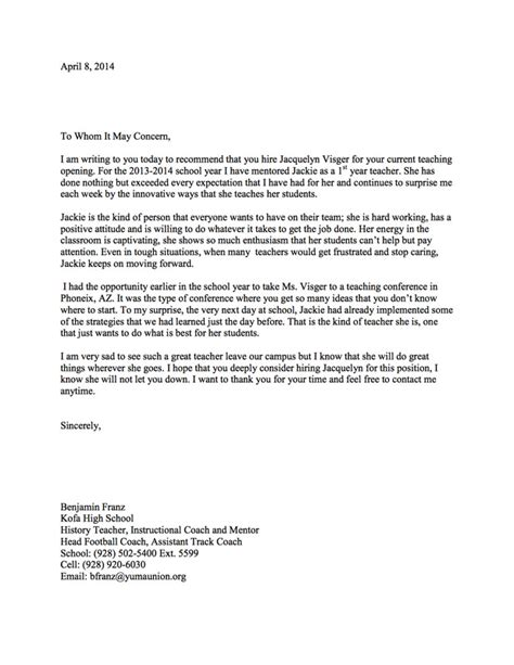 letter of recommendation for high school student high school student letter of recommendation images 9929
