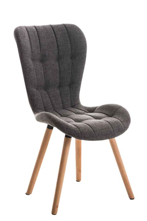 chaise tissu salle a manger dining chair elda tweed covers fabric lounger seat wood