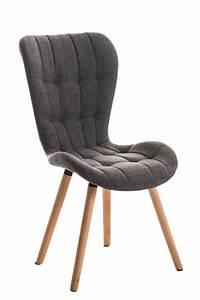chaise salle a manger elda fauteuil tissu bois cuisine With meuble salle À manger avec chaise cuisine tissu