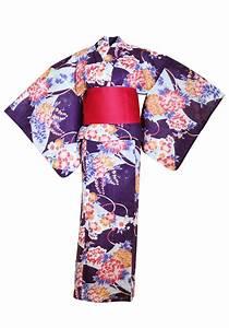 myKimono Women's Traditional Japanese Kimono Robe Yukata ...