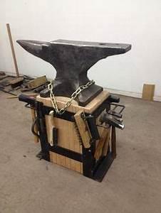 Really nice portable vise stand | Blacksmith Tools ...