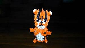 3d Origami Tiger  Baby Tiger  Assembly Diagram  Tutorial