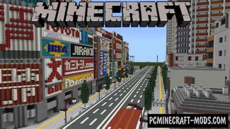 japanese modern city minecraft pe map iosandroid   pc java mods