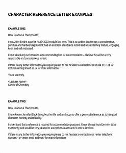 18 reference letter template free sample example With character reference template for renting