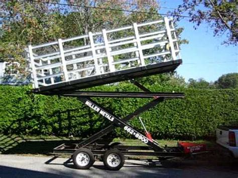 miller metalscom hydraulic scissor lift dump trailer youtube