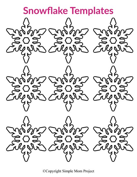 printable small snowflake templates simple mom project