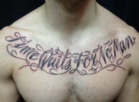 quotes tattoos  chest