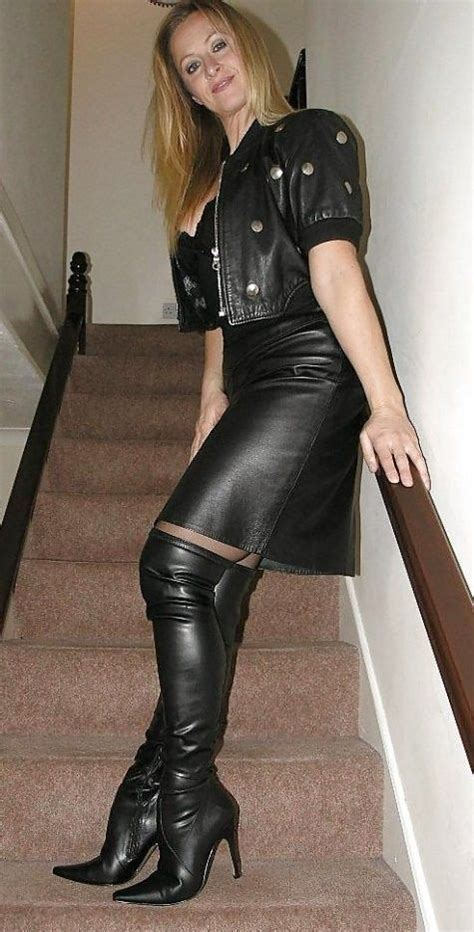 Sexy Milf In Leather Leather Pinterest Sexy Posts
