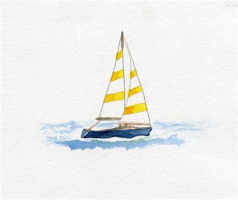 Watercolor Boat by Watercolour Sailing Boat Watercolour