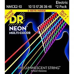 DR Strings Hi Def NEON Multi Color Medium Electric Guitar