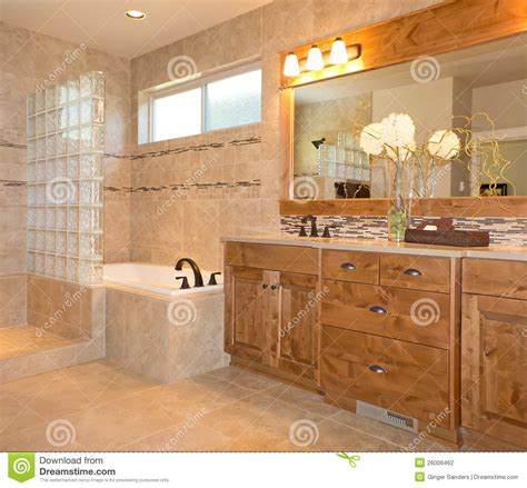 bathroom vanity mirror ideas luxury tile bathroom in beige and gold stock photography