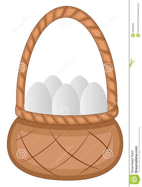 easter eggs basket cartoon character vector