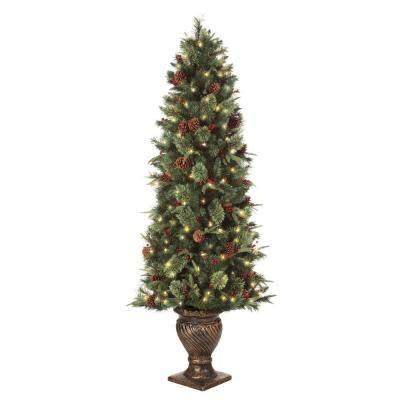 martha stewart white christmas tree martha stewart living 6 5 ft pre lit potted artificial 8796