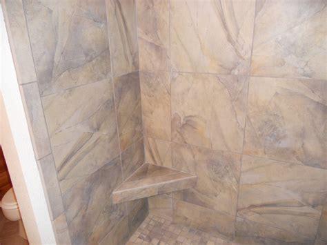 slate look porcelain tile bathrooms