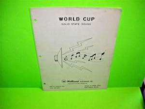 Details About Williams 1978 World Cup Original Flipper