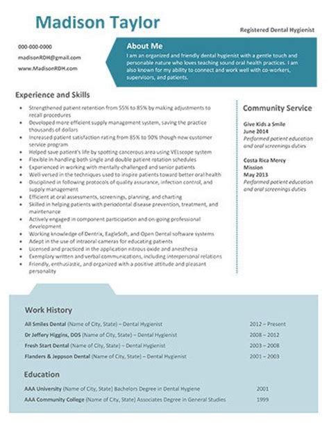 new dental hygiene resume templates dental hygiene