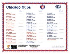 Chicago Cubs Printable Schedule 2017