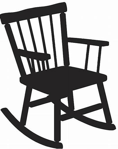 Rocking Chair Silhouette Vector Clip Clipart Illustrations