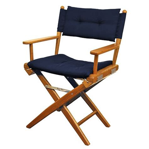 assise chaise chaise teck pliante deluxe avec coussin d 39 assise azur marine