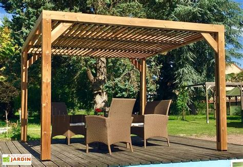 pergola bois adossée pergola bioclimatique bois trait 233 haute temp 233 rature vantelles toit habrita