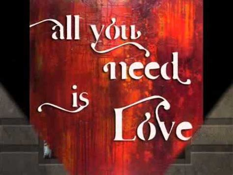 ALL YOU NEED IS LOVE - BEATLES COVER - YouTube