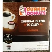 The rich, smooth taste of dunkin' original blend, only decaffeinated. Dunkin Donuts K-Cup Original Blend Coffee: Calories, Nutrition Analysis & More | Fooducate