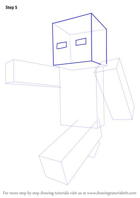 learn   draw steve  minecraft minecraft step